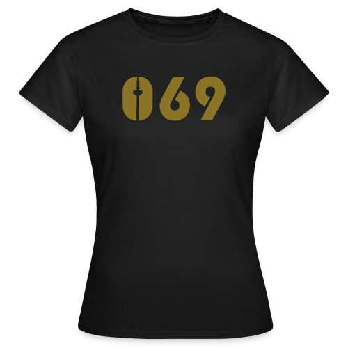 069 SHIRT GOLD-MATT - Frauen T-Shirt