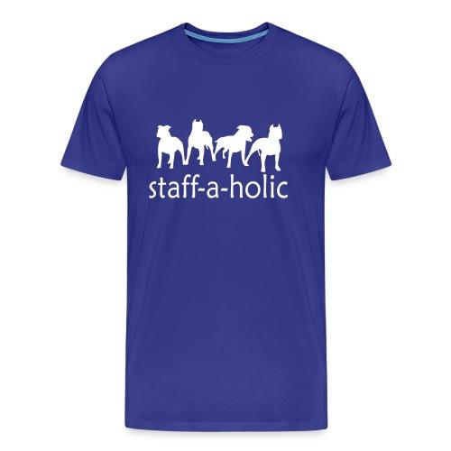 Mens 'Staff-a-holic' T-Shirt - Men's Premium T-Shirt