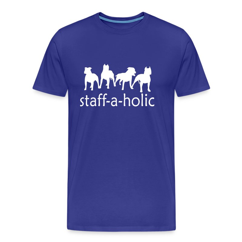 Mens 'Staff-a-holic' T-Shirt - Men's Premium T-Shirt