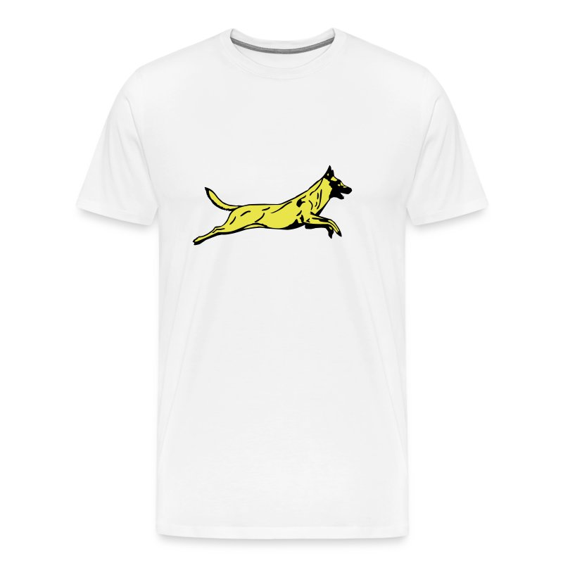 Mens Jumping Dog T-shirt - Men's Premium T-Shirt