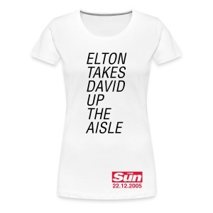 Elton Takes David Up The Aisle - Women's Premium T-Shirt