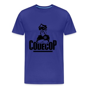 Code Cop, 'Blue Cosy Peter' - Men's Premium T-Shirt