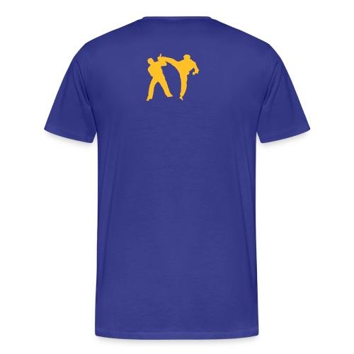 roundhousekick T-Shirt front/back bleu - T-shirt Premium Homme