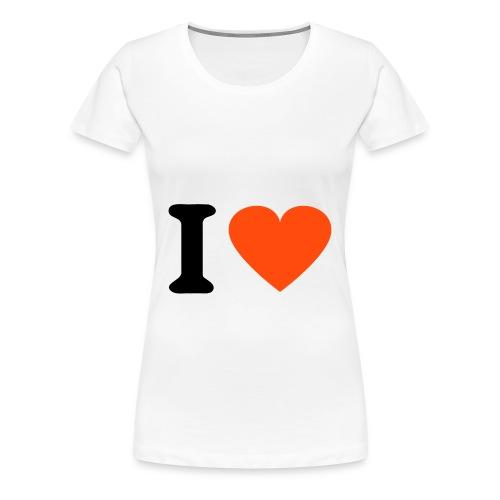 T-shirt  donna logo i love - Maglietta Premium da donna