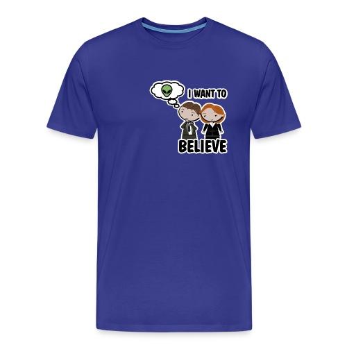 Camiseta Expediente X, I want to Believe - chico manga corta - Camiseta premium hombre