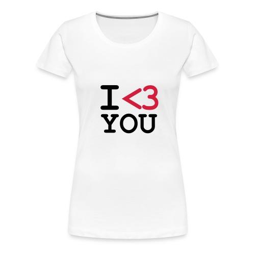 I  - Premium T-skjorte for kvinner