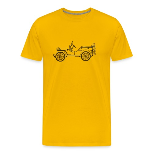 yellow willis - T-shirt Premium Homme