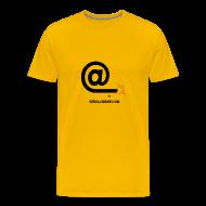 Tee shirts ~ Tee shirt Premium Homme ~ Arobase  etincelle jaune
