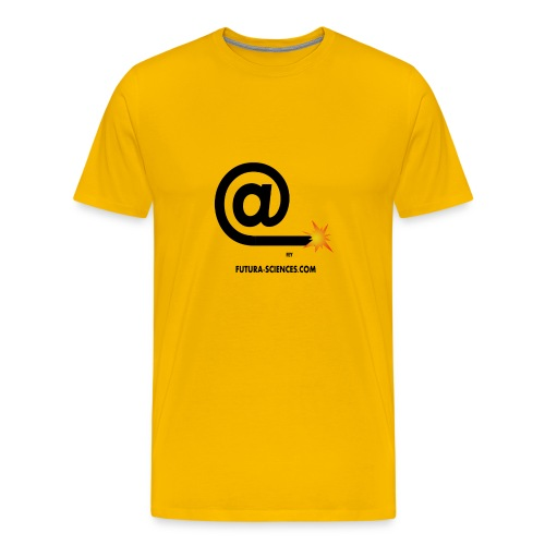 Arobase  etincelle jaune - T-shirt Premium Homme