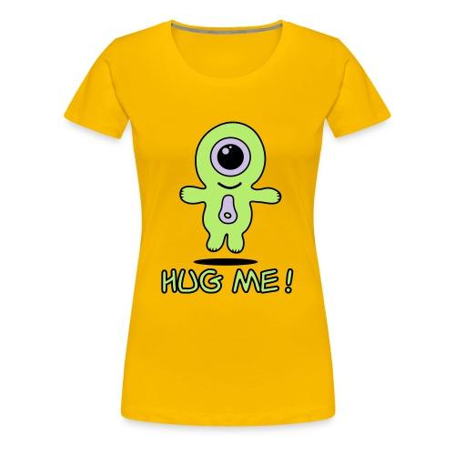 Girls alien hug me - Women's Premium T-Shirt