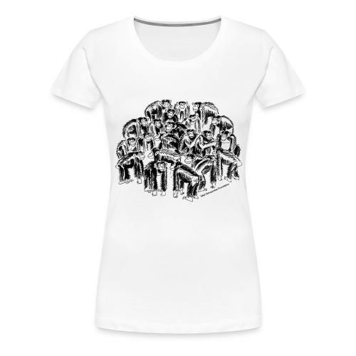 Chimpanzees Women's Classic Girlie Shirt - Women's Premium T-Shirt