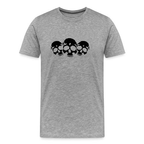 Three Skulls - Männer Premium T-Shirt