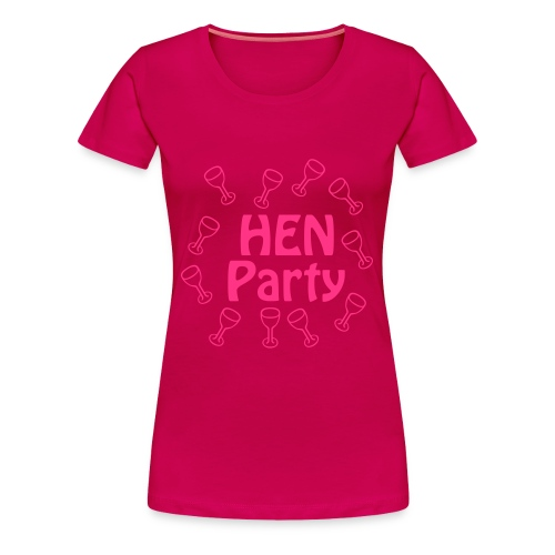 hen party bride - Women's Premium T-Shirt
