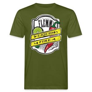 Liquid Fire eco t-shirt for men green - Men's Organic T-shirt