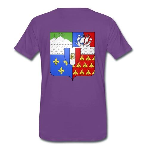 Les armoiries de la Réunion (version homme) - T-shirt Premium Homme