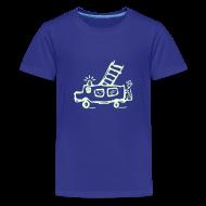 T-Shirts ~ Teenager Premium T-Shirt ~ Feuerwehr (glow in the dark) - Kinder T Shirt klassisch