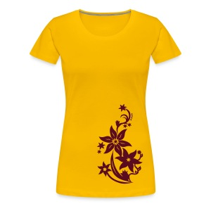 Women's Flower T-Shirt - Women's Premium T-Shirt