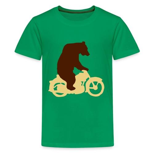 Boys - Biker Bear - Teenage Premium T-Shirt