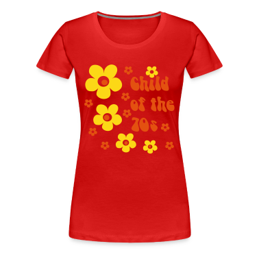 Red Child of the 70s Women's T-Shirts