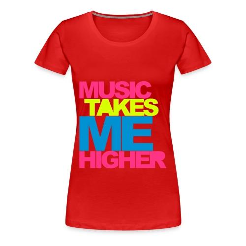 musiikki paita - Naisten premium t-paita