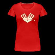 T-Shirts ~ Frauen Premium T-Shirt ~ Kiffender, leuchtender Hase (big) Girlie-Shirt