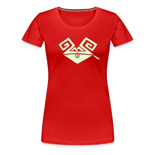 Kiffender, leuchtender Hase (big) Girlie-Shirt - Frauen Premium T-Shirt