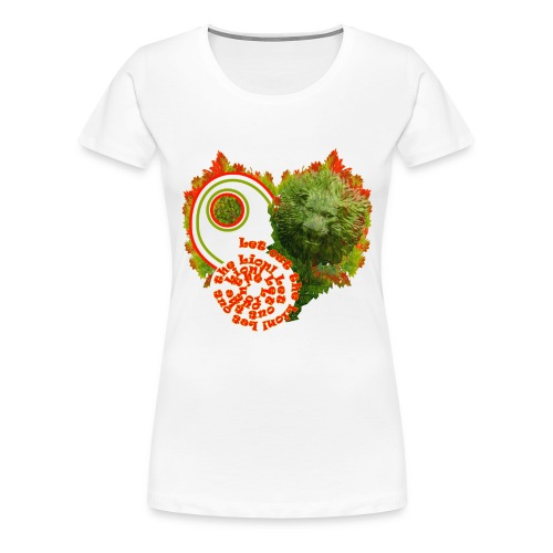 Let out the lion, girlieshirt - Dame premium T-shirt