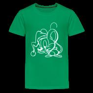 T-Shirts ~ Teenager Premium T-Shirt ~ Maus (power reflex) - Kinder T Shirt klassisch