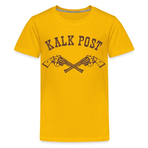 Brauner Flockdruck Western - Teenager Premium T-Shirt