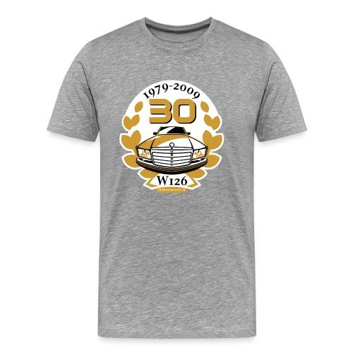 Jubiläums-Shirt 30 Jahre W126 einfach - Men's Premium T-Shirt