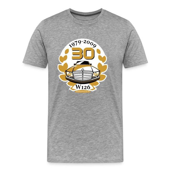 Jubiläums-Shirt 30 Jahre W126 einfach