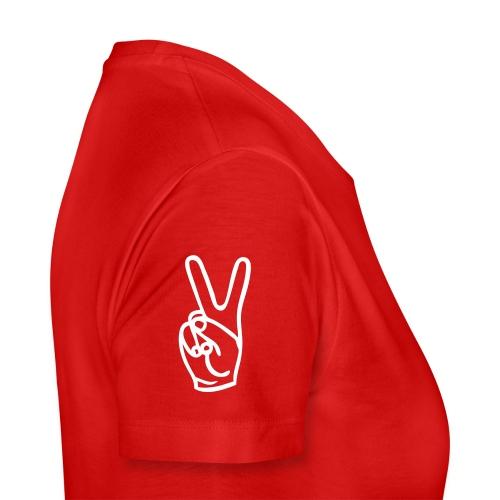 GirlyRed Peace - Women's Premium T-Shirt