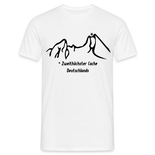 Geocaching Basisshirt mit dem zweithöchsten Cache Deutschlands auf dem Watzmann - Männer T-Shirt