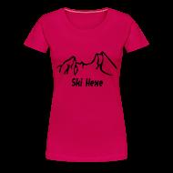 T-Shirts ~ Frauen Premium T-Shirt ~ Girlieshirt Skihexe