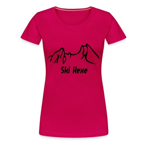 Girlieshirt Skihexe - Frauen Premium T-Shirt