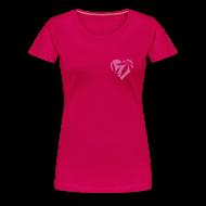 T-Shirts ~ Women's Premium T-Shirt ~ Cannabis Herz (pink/glitter) Girlie-Shirt