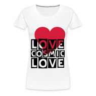 T-Shirts ~ Women's Premium T-Shirt ~ cosmic love (F)
