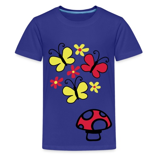 blue petal - Teenage Premium T-Shirt