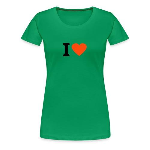 I Love - Women's Premium T-Shirt