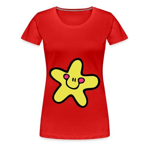 Freu' Dich (Sternchen) - Frauen Premium T-Shirt