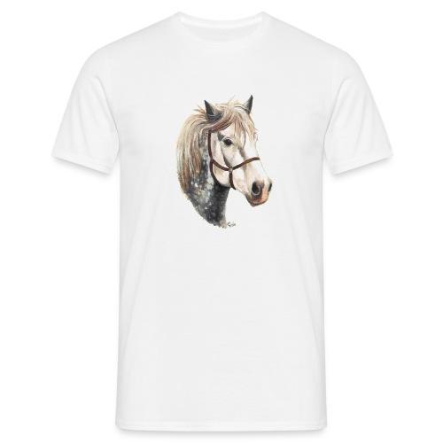 JACOB THE PERCHERON HORSE T SHIRT WHITE - Men's T-Shirt
