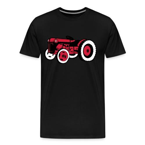 Rødtass herreskjorte - Premium T-skjorte for menn
