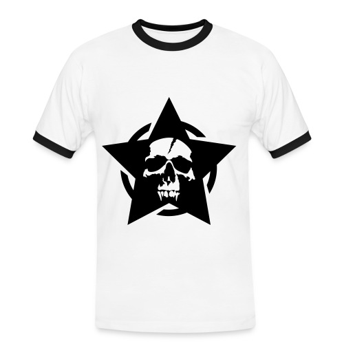 skull star circle - Mannen contrastshirt