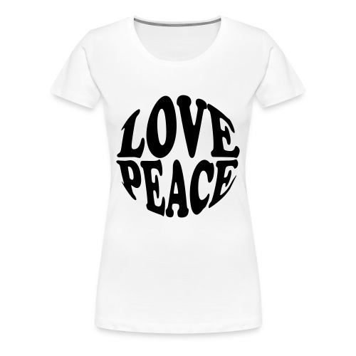 LOVE PEACE - Women's Premium T-Shirt