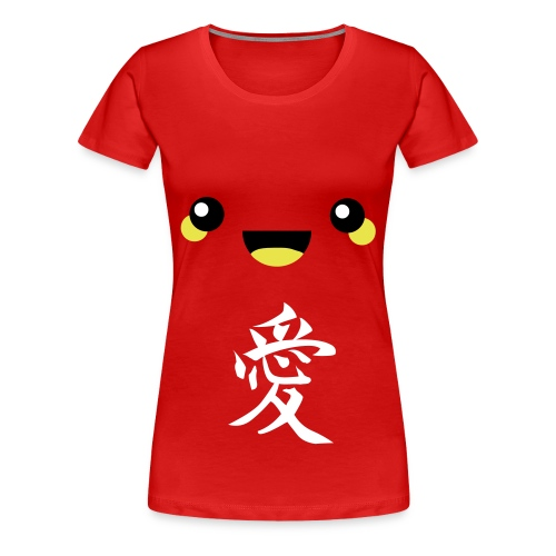 cute face love shirt (F) - Women's Premium T-Shirt