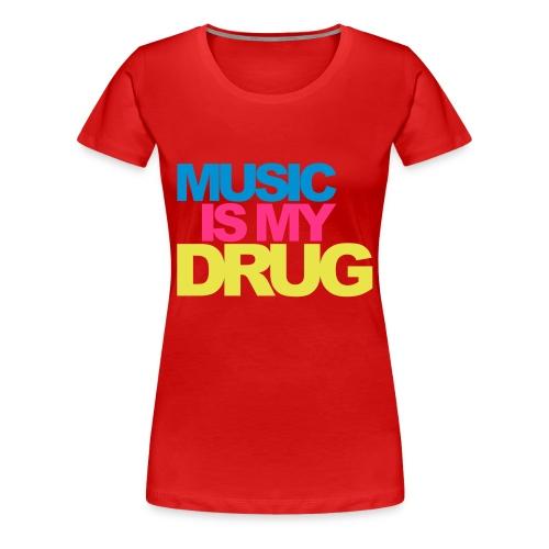 Tee-shirt femme music - T-shirt Premium Femme
