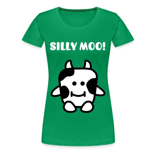 silly moo! - Women's Premium T-Shirt