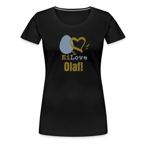 Ei Love (Name/Stadt/Hobby) - Frauen Premium T-Shirt