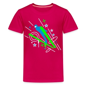 Pink ski_3 Kinder T-Shirts - Teenager Premium T-Shirt