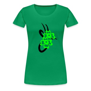 St. Patrick Shamrock tribal by Patjila - Women's Premium T-Shirt